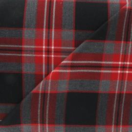 ♥ Coupon 30 cm X 140 cm ♥  Tissu tartan écossais rouge carmin