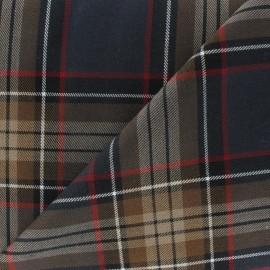 Tissu tartan écossais marron x10cm