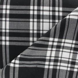 Tissu tartan écossais noir x10cm