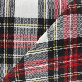 Tissu tartan écossais rouge x10cm