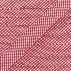 Biais Petit Vichy rouge 20 mm