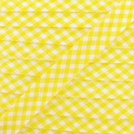 Biais Vichy jaune 18 mm