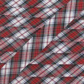 Biais Écossais vert/rouge/blanc 20 mm