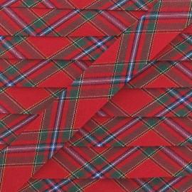 Biais écossais rouge 20 mm