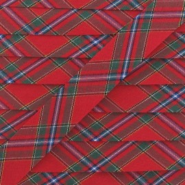 Scottish Bias binding, 20 mm - red