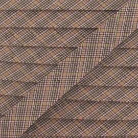 Biais mini écossais brun 18 mm