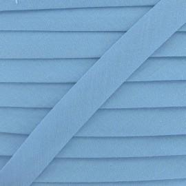 Biais Tout Textile bleu fumée 20 mm