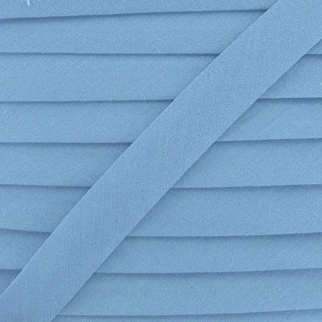 Biais Tout Textile bleu fumée 18 mm