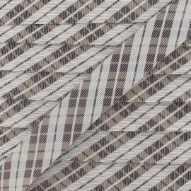 Satiny bias binding, gingham 20 mm - beige