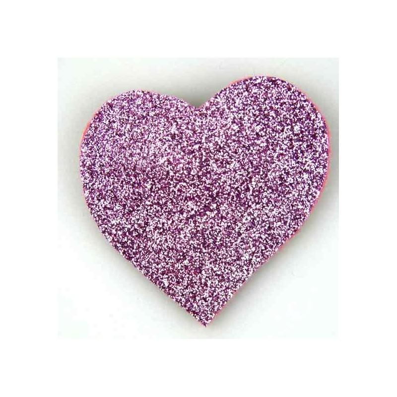 Coeur paillettes rose lot de 2 - Ma Petite Mercerie 4e676e234ff