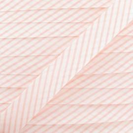 Biais coton rayé rose