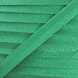 lurex bias binding - green