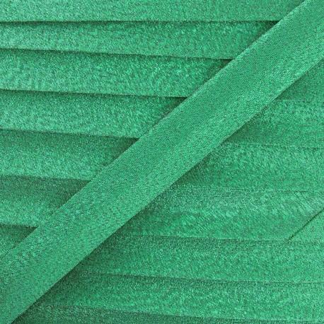 lurex bias binding - green