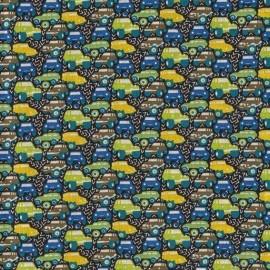 Tissu Liberty Hunter truck bleu vert D x 10cm
