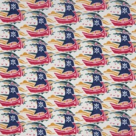 Tissu Liberty Samols rouge C x 10cm