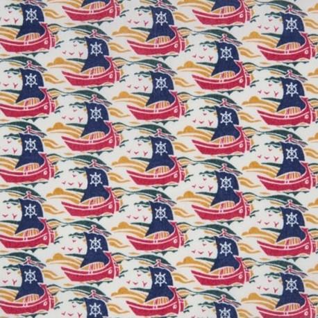Liberty Samols C fabric - red x 10cm