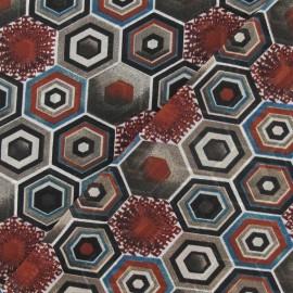 ♥ Coupon 100 cm X 140 cm ♥  Tissu mousseline polygone châtaigne