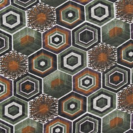Tissu mousseline polygone pin x 50 cm