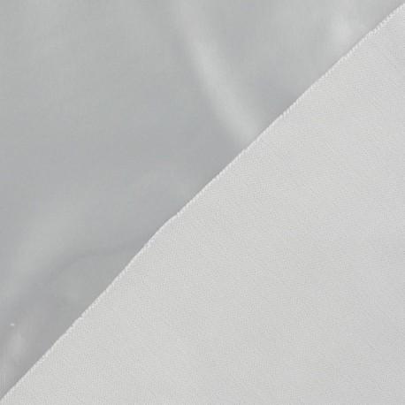 Tissu vinyl argent x 10cm