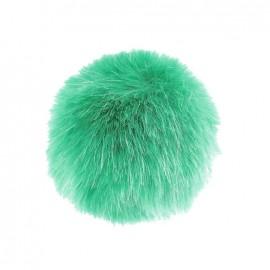 Pompon rond fausse fourrure vert