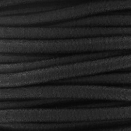 Elastic cable 5 mm - Black