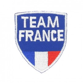Team France badge iron-on applique - blue