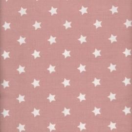 Tissu enduit coton étoiles warm rose x 10cm