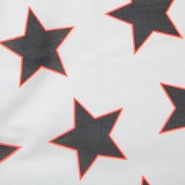 Tissu enduit coton star giant white néon x 10cm