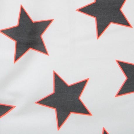 Fabric enduit coton star giant white néon x 10cm