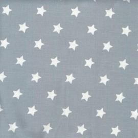 Tissu coton étoiles Dusty blue x10cm