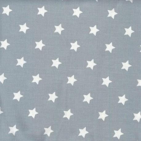 Fabric coton étoiles Dusty blue x10cm