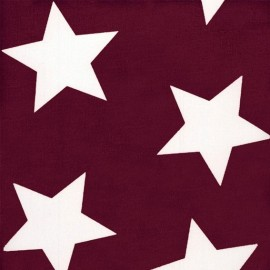 Big Stars Giant Fabric - Burgundy x 10cm