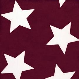 Tissu étoiles Big Star Giant Burgundy x 10cm