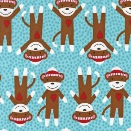 Tissu critter club ours bleu x 10cm
