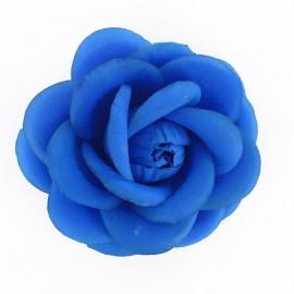 Flower brooch/hair-clip - fluorescent blue