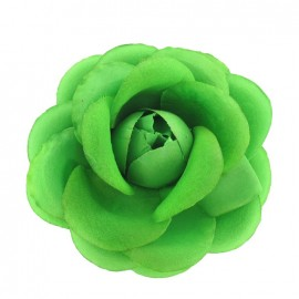 Flower brooch/hair-clip - fluorescent green