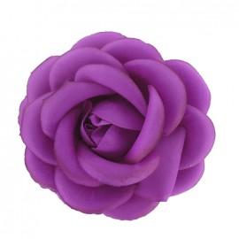 Flower brooch/hair-clip - fluorescent purple