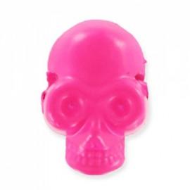 Bouton/perle Tête de mort Fluo Rose
