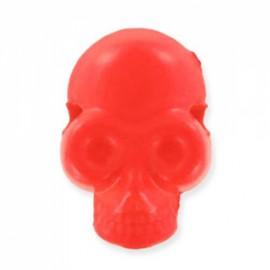 Button/bead, skull - fluorescent orange