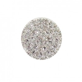 Button, rounded-shaped with 37 rhinestones - silver