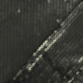 Tissu paillettes sirène mat kaki x10cm
