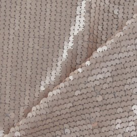 Mermaid Sequin Fabric - mat powder pink x 10cm