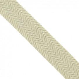 Polypropylene strap, herringbone 25 mm - light beige