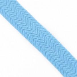 Polypropylene strap, herringbone 25 mm - sky blue