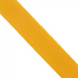 Polypropylene strap, herringbone 25 mm - yellow