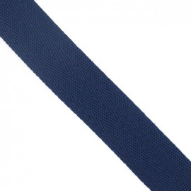 Polypropylene strap, herringbone 25 mm - navy