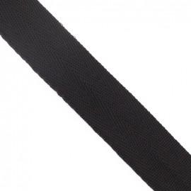 Polypropylene strap, herringbone 25 mm - brown