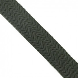 Polypropylene strap, herringbone 25 mm - army green