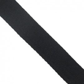 Polypropylene strap, herringbone 25 mm - black