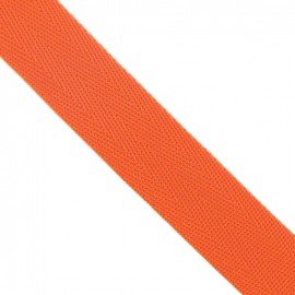 Polypropylene strap, herringbone 25 mm - orange